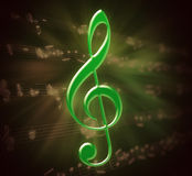 Green clef Stock Photo
