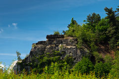 Green cliff Stock Image