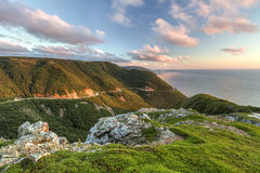 Green Cliffs Overlooking Cabot Trail Royalty Free Stock Photos