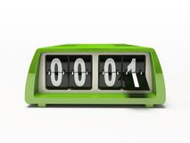 Green clock. Green watch - counter isolated on white background 3D royalty free stock images