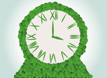 Green clock Royalty Free Stock Image
