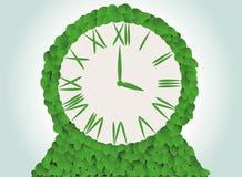 Green clock Royalty Free Stock Image