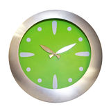 Green Clock Stock Photography