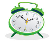 Green Clock Royalty Free Stock Photography