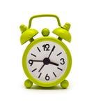 Green Clock Royalty Free Stock Photography