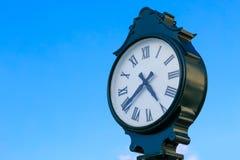 Green clock Stock Photo