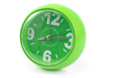 Green clock Royalty Free Stock Photos