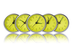 Green clocks Stock Photos