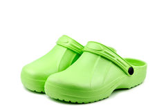 green clogs Royalty Free Stock Image