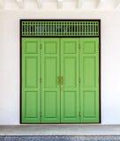 Green Closed Door Royalty Free Stock Photos