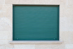 Green closed metal shutter Royalty Free Stock Images