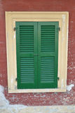 Green closed window Royalty Free Stock Photos