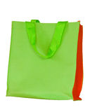 Green cloth bags on a white background Stock Photos