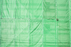 Green cloth cover on building Royalty Free Stock Image