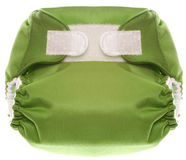 Green Cloth Diaper with Hook and Loop Closure Royalty Free Stock Photography