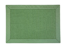 Green cloth place mat Stock Images