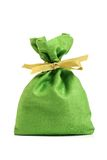 Green cloth sack Stock Image