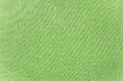 Green cloth texture Stock Photos