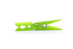 Green clothespin Royalty Free Stock Photo