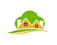 Green cloud Residential icon royalty free illustration