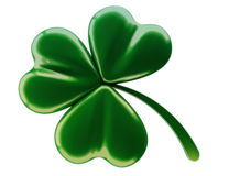 Green clover. 3d model of a green clover Royalty Free Stock Image