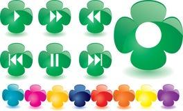 Green clover as music bar Stock Photo