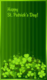 Green clover background dark Royalty Free Stock Photography