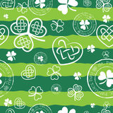 Green clover background. For St. Patrick`s day Royalty Free Stock Images