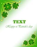 Green clover frame Stock Images
