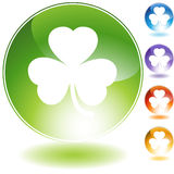 Green Clover Icon Royalty Free Stock Photography