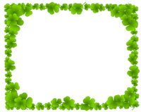 Green Clover Leaves Leaf Border Frame Stock Images