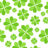 Green Clover Leaves  Seamless Pattern Background Royalty Free Stock Photo