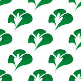 Green clover leaves seamless pattern Royalty Free Stock Image