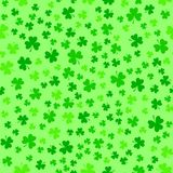 Green clover leaves, seamless pattern. St. Patrick`s Day background Stock Photos