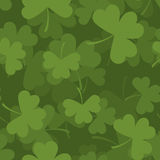 Green clover seamless pattern. 3D background for feast of St. Pa Royalty Free Stock Photos