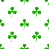 Green Clover Seamless Pattern Royalty Free Stock Images