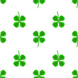 Green Clover Seamless Pattern Stock Images