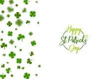 Green clover St Patrick Day stock illustration
