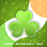 vector green clover - symbol of  Saint Patricks Da Royalty Free Stock Photos