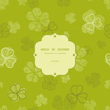 Green clover textile texture frame seamless Royalty Free Stock Images