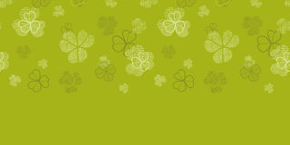 Green clover textile texture horizontal border Stock Photos