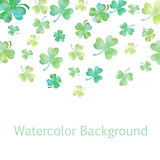 Green clover watercolor illustration Stock Image