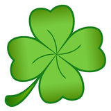 Green cloverleaf. A green cloverleaf isolated on a white background Royalty Free Stock Photos