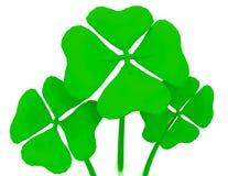Green clovers isolated stock illustration