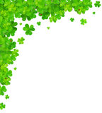 Green clovers vector corner frame element Royalty Free Stock Photo