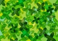 Green clovers wallpaper Stock Images
