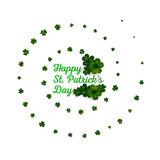 Green clovers on white, decoration for St Patricks day Royalty Free Stock Photography