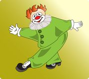 Green-clown Royalty Free Stock Photography