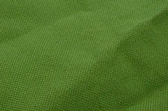 Green coarse cotton Royalty Free Stock Photography