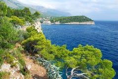 Green Coast and Blue Sea Stock Image